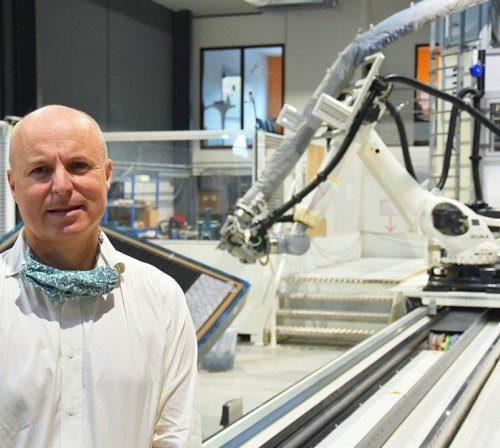 Luc Talbourdet président Avel Robotics achat deuxième robot placement fibres Lorient